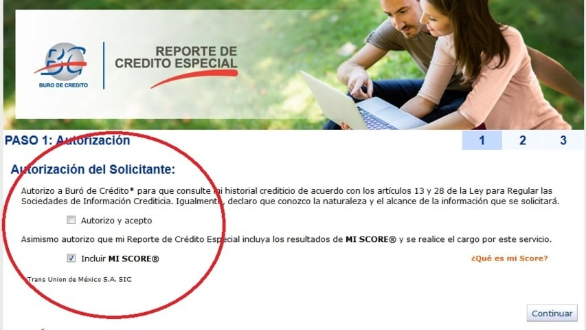 solicitar un reporte de credito buro en linea