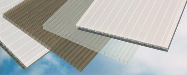muestra de techos de policarbonato solido