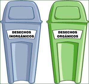 clasificacion de basura organica e inorganica en casa