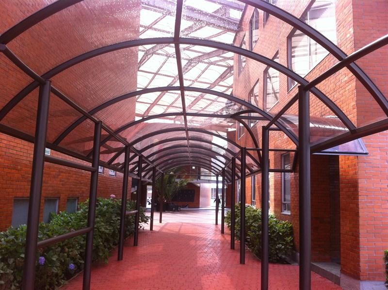 techos de acrilico estilo tunel