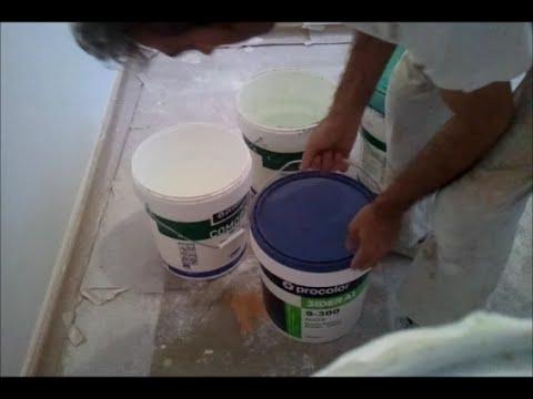 seguridad de pintura acrilica guardada